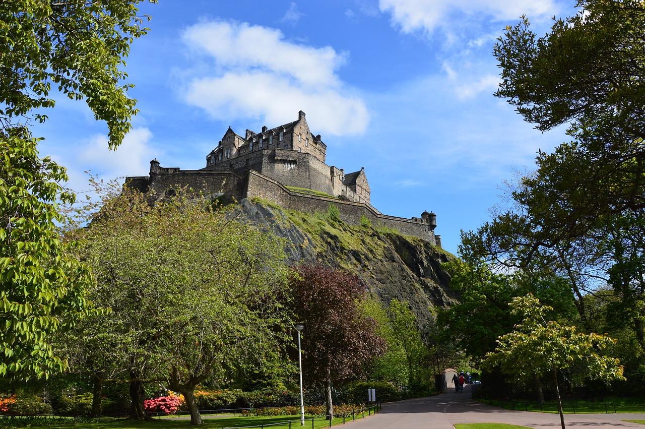 castle, scotland, edinburgh
